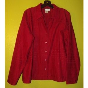 Colwater Creek red jacket